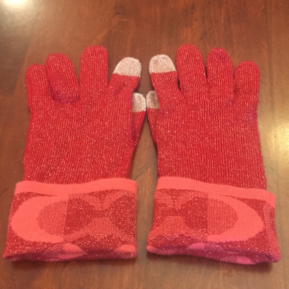 0f9f84eee Coach Accessories | Authentic Womens Signature Gloves | Poshmark